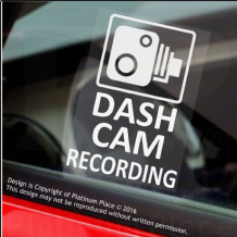 4 x DASH CAM Recording-60x87mm WINDOW Stickers-Vehicle Security Warning Dash Cam Signs-CCTV,Car,Van,Truck,Taxi,Mini Cab,Bus,Coach,Go Pro